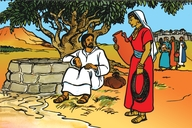 Jesu No mukentu Omu Samaliya (Picture 20. Jesus and the Samaritan Woman)