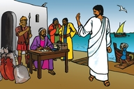 Jesu Aha Kuwa Mateu Butiye Amu Humpilile (Picture 28. Jesus calls Matthew to Follow Him)