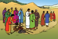 Jesu Aha Tuma Aba Zhiiswa Be Kumi Ne Bobile (Picture 50. Jesus Sends Out the Twelve Disciples)