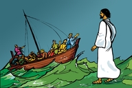 Jesu Aha Yenda Awilu Yo Menji (Picture 52. Jesus Walks on the Water)