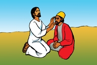 Jesu Aha Hoza Omuntu Ozhu Taka Amba Noku Sha Shuwa (Picture 55. The Healing of a Deaf and Dumb Man)
