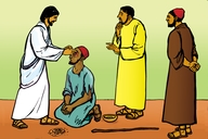 Picture 65. Jesus Heals a Man Born Blind