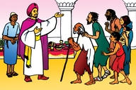 Enguli Yo Mukiti Omunene (Picture 73. Parable of the Great Feast)