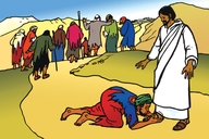 Picture 80. Jesus Heals Ten Lepers