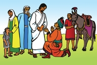 Jesu No Mu Kwameana Omu Fumi (Picture 84. Jesus and the Rich Young Man)
