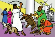 Jesu Aha Chenisa Mutempele (Picture 89. Jesus Clears the Temple)