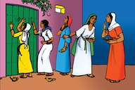 Enguli Yoba Kentuana Be Kumi (Picture 94. Parable of the Ten Virgins)