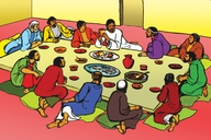 Picture 100. Teaching at the Last Supper