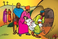Oku Zikiwa Kwa Jesu (Picture 109. The Burial of Jesus)