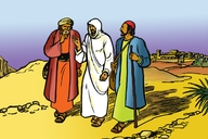 Jesu Mumukwakwa Uya Kwa Imausi (Picture 113. Jesus on the Road to Emmaus)