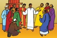 Jesu Aha Bonahala Kuba Zhiiswa Bakwe (Picture 114. Jesus Appears to His Disciples)