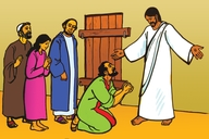 Jesu Aha Bonahala Kwa Tomasi (Picture 115. Jesus Appears to Thomas)