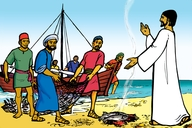 Jesu Aha Kibonahaza Mwa Galileya (Picture 116. Jesus Appears in Galilee)