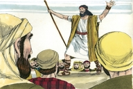John Prepares the People for Jesus, Matthew 3:1-4, 11, 12