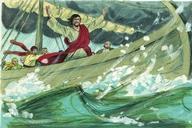 Jesus calma la tormenta - Mateo 08:23-27