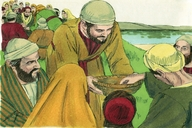 Jesus feeds the 5000, Matthew 14:13-21