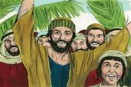 136. Jesus Comes to Jerusalem as King, Matthew 21:1-11