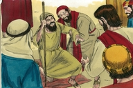 A beggar receives his sight (Luke 18:35-43)