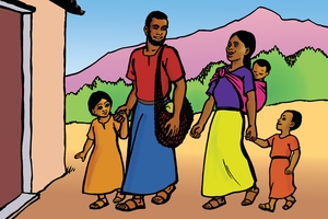 Cuadro 28 (La familia cristiana) (The Christian Family)
