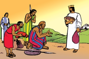 Abramu Ikwangana Nu Malafyale Wa Lutengano (絵 15. Abraham Meets the King of Peace)