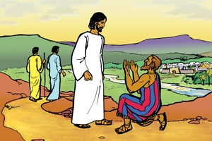 Kosoe Abram akobo Sodom (Picture 19. Abraham Prays for Sodom)