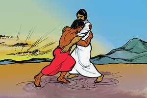 Yakobo Akwembana na Noungou [Picture 4. Jacob Meets God]