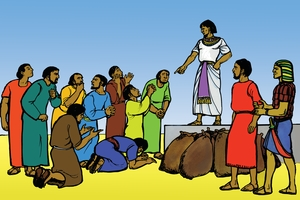 Picture 10: Joseph Rules in Egypt; and Turn Over Announcement