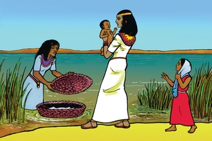 Gambar 13 Abraham leaves His Home (Bayi Musa)