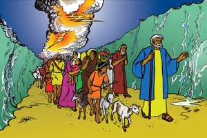 Picture 17: The Israelites Pass Through The Red Sea