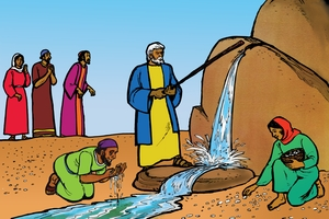 Picture 18: Manna and Water in the Desert