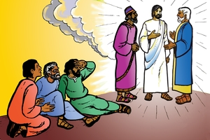 Yesu Alongei na Musa (絵 22. Jesus Speaks with Moses)