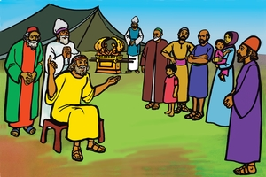Jͻciwa Bala Mieti ma (絵 8. Joshua Instructs the People)