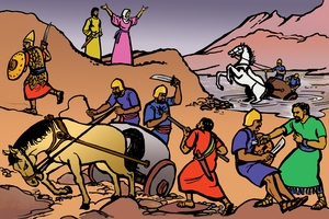 Allah sisera nzrutaro mazi [Picture 10. God Helps Defeat Sisera]