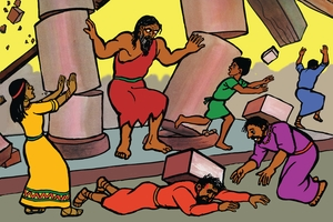 Aka Samsoni Wara Palestina Balese [絵 20. Samson Destroys The Philistines]