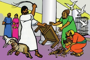 Isaye gurdoma suro fato kimaye duwono [Picture 22. Jesus Drives Out Evil Men]