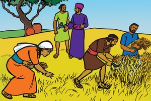 Ruthi Fula Obru Firti [Picture 3. Ruth in The Harvest Field]
