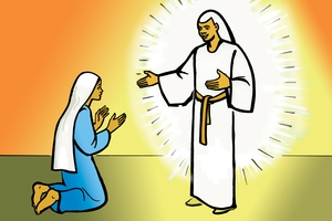 Maria nende Malaika wa Nyasaye [Picture 6. Mary and the Angel of God]