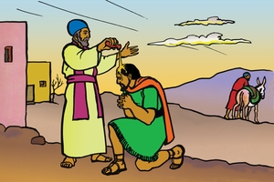 รูปภาพ 10. Samuel Anoints Saul with Oil