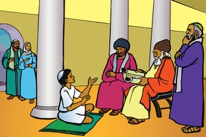 Yesu Wavakhwa Amafura Munju Mwa Wele Mulayi [絵 12. Jesus in the House of God]