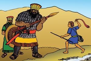 Daudi, Goliathi [Picture 14. David and the Giant]