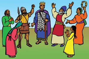 Daudi Akholwa Omwami [Picture 17. David is Made King]