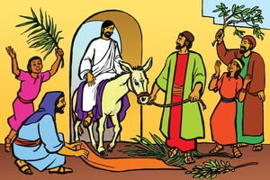 Picture 20: Jesus Comes Into Jerusalem