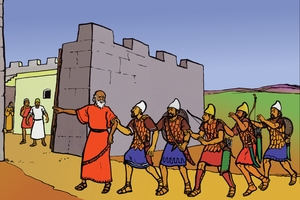 Picture 4. Elisha and the Blind Army