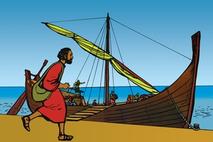 Picture 7. Jonah flees from God