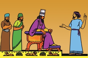 Rùp 14: Da-ni-el sì pitao Ba-bi-lôn [Picture 14. Daniel and the King of Babylon]