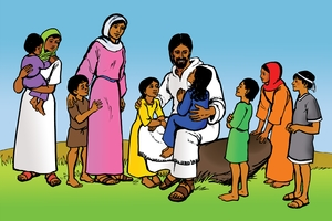 Yashwa ak Lokok [Picture 7. Jesus and the Children]
