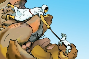 Ribik ak Ngejirek [Picture 8. The Shepherd and the Sheep]