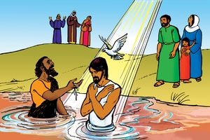 Picture 13. Jesus is Baptized ▪ Picture 14. Jesus Calls Helpers ▪ Picture 15. A Man with Leprosy ▪ Picture 16. A Man Comes Through the Roof ▪ Picture 17. Jesus Heals a Man's Hand ▪ Picture 18. Jesus Calms a Storm ▪ Picture 19. A Woman in the Crowd ▪ Picture 20. Jesus and the Dead Child ▪ Picture 21. Jesus and the Foreign Woman ▪ Picture 22. Jesus and the Deaf and Dumb Man ▪ Picture 23. Jesus Makes a Blind Man See ▪ Picture 24. Jesus Heals a Boy with a Demon ▪ Song