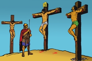 Yesu'o Fiile Msalabani [Picture 10. Jesus Dies on the Cross]