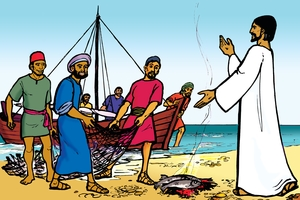 Yeson Jallowan isat mulate [Picture 12. Jesus Appears to His Friends]